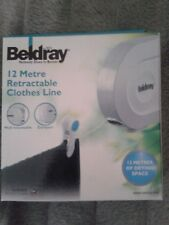 Beldray 12 METER Retractable Clothes Line Airer Compact Wall Mounted