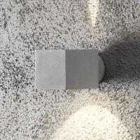Außen Wandlampe Up Down Light quadratisch Würfel IP44 silber grau Wandleuchte