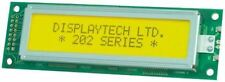 Displaytech 202A-BC-BC Alphanumeric LCD Display, Yellow on Green, 2 Rows by 20 C