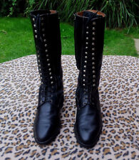 VINTAGE PALIO Italian military Victorian lace up leather boots UK size 5 EU 38
