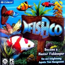 FishCo (New Sealed PC Game) Windows 10 8 7 Vista XP fishkeeper time management