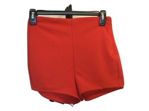 NWT women's FOREVER 21 red high-rise stretch shorts size XS