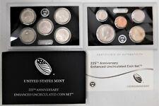2017-S 225th Anniversary Enhanced Uncirculated Coin Set Box OGP & COA