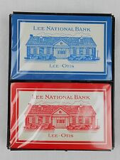 Lee National Bank Playing Cards Lee-Otis Redislip 2 Decks NEW Red Blue