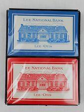 Lee National Bank Playing Cards Lee-Otis Redislip 2 Decks NEW Red Blue