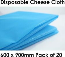 20 x Disposable Cheese Cloth Butter Muslin Blue Synthetic Fabric Food Cookware