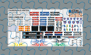 1/87 0641 Scania CS CR Zubehör Decalsatz, Blatt 100x50mm