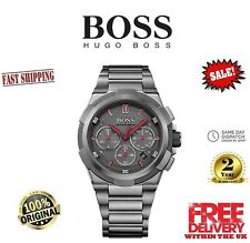 Brand NEW Hugo Boss 1513361 Men's Supernova Gun Metal Edition Chronograph Watch