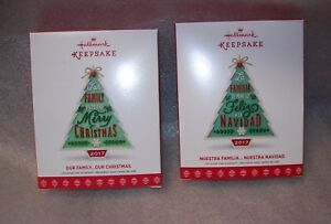 2017 HALLMARK KEEPSAKE CHRISTMAS TREE ORNAMENTS TWO TO CHOOSE FROM NEW IN BOX