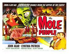 mole people vintage horror sci-fi movie poster garden wall decorations