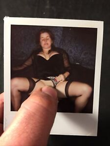 Vtg 60's Polaroid Pinup Girl Snapshot Spicy Girlie Risque Photo lot 1
