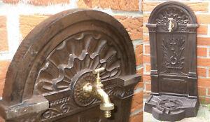 Puit de Jardin, Exposition Fontaine 82cm 24kg Fonte, Drainage, Raccord de Tuyau