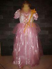 Superbe robe  PRINCESSE ROSE  complète - couronne + baguette  - 7/8 ans - neuve