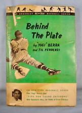 Behind The Plate Vintage Book 1962 Hardcover Lawrence Yogi Berra Til F (O) AS IS