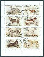 Oman Kleinbogen Hunde gestempelt