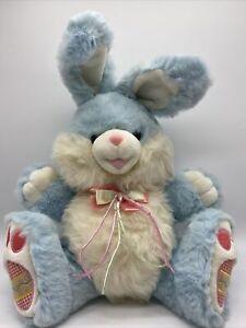 Dan Dee HOPPY HOPSTER Large Easter Egg Bunny Rabbit Plush Blue Stuffed Vtg