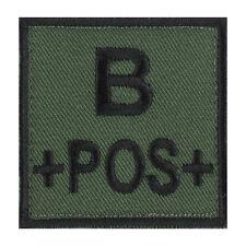 ÉCUSSON PATCH GROUPE SANGUIN B+ / B POS / B POSITIF avec DOS AUTO-AGRIPPANT