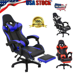 Ergonomic Gaming Chair Office Computer Recliner Desk Chair With Footrest Swivel