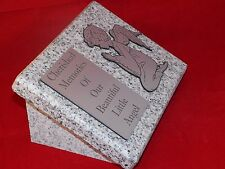 Personalised Grey Granite not Marble Memorial Grave Plaque Stone Baby Angel