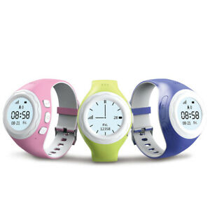 WATCHU Kids GPS Rastreador Reloj w/ Botón SOS, Celda Llamada & Rastreador Físico