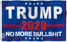 Anley Fly Breeze 3x5 Foot Donald Trump 2020 Flag NO More Bullshit Flag Polyester
