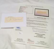 Jimmy Demaret 3x Masters Champion Signed / Autographed Cut / Index Card JSA LOA