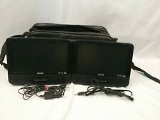 Phillips Portable Dual DVD Player and Carrier Bag Model PD9016i
