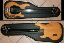 1995 Music Man USA Stingray Cutlass Bass - Natural Fretless Status Graphite Neck