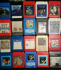 Lot Of 20 Classic Rock 8-Track Tapes - Joplin Who Clapton Foghat Tull~Tested