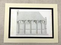 1857 Architektonisch Aufdruck Gravierung Französisch Gothic Kirche Ferte Bernard