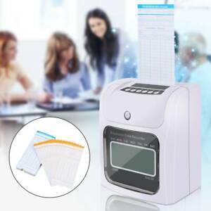Registrador de Asistencia Reloj de Tiempo Electrónico LCD + 50pcs tarjetas