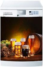 Adesivo lavastoviglie decocrazione cucina elettrodomestici Birre ref 619 60x60cm