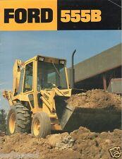 Equipment Brochure - Ford - 555B -  Tractor Loader Backhoe - c1980's (E1156)