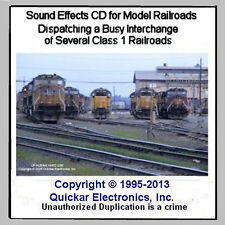 HO SCALE SOUND EFFECTS CD DISPATCHING A BUSY CLASS 1 TRAIN YARD INTERCHANGE