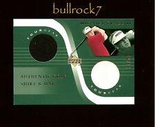 MICHAEL CLARK II 2001 Upper Deck Golf Tour Gear Shirt Hat Swatch #14/50 #0950
