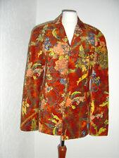 Christian Lacroix Jacke LUXUS Blazer Samt Glitzer multicoulor Vintage D 38 I 42
