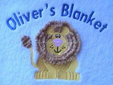 PERSONALISED BABY BOY BLANKET WITH LION DESIGN - GIFT
