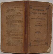 PIETRO AVANZINI DE CONSTITUTIONE APOSTOLICAE SEDIS SEDE APOSTOLICA SCOMUNICA 872