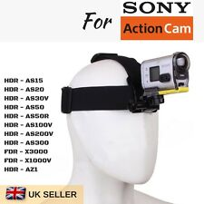 Adjustable Head Helmet Strap Harness Mount for SONY HDR FDR Sport Action Camera
