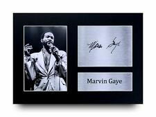 Marvin Gaye Signed Pre Printed Autograph Photo Wall Art Display Gift For Pop Fan