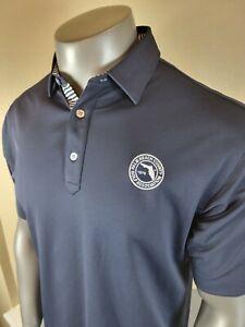 Men's FootJoy FJ Golf Polo Shirt Solid Blue Size Large Palm Beach