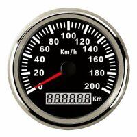 85mm GPS Analog Speedometer Odometer Gauge for Car Motor Motorcycle Marine Boat