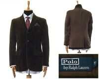 Mens POLO RALPH LAUREN Blazer Coat Jacket Corduroy Cotton Green Size 38 48