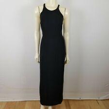 Vintage Tootsies sleeveless formal cocktail black elegant simple dress sz 8