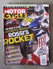 Motorcycle News AMCN Dec 2007 - FATBOY TDM 900 CRF 250 YZR-M1 RC212V 1098 MORINI