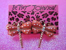 Betsey Johnson Dragon Fly Earrings