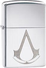 Zippo Assassins Creed Chronicles Franchise Logo High Polish Chrome 29486 **NEW**