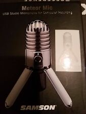Samson Meteor Large Diaphragm Professional USB Studio Microphone - Silver NEW