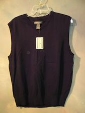 NEW WITH TAGS $40.00 SADDLEBRED MENS BLACK COTTON SWEATER VEST SIZE M