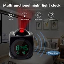 Digital Projektionswecker Projektionsuhr Wecker-Uhr mit Projektion Projektor AR2